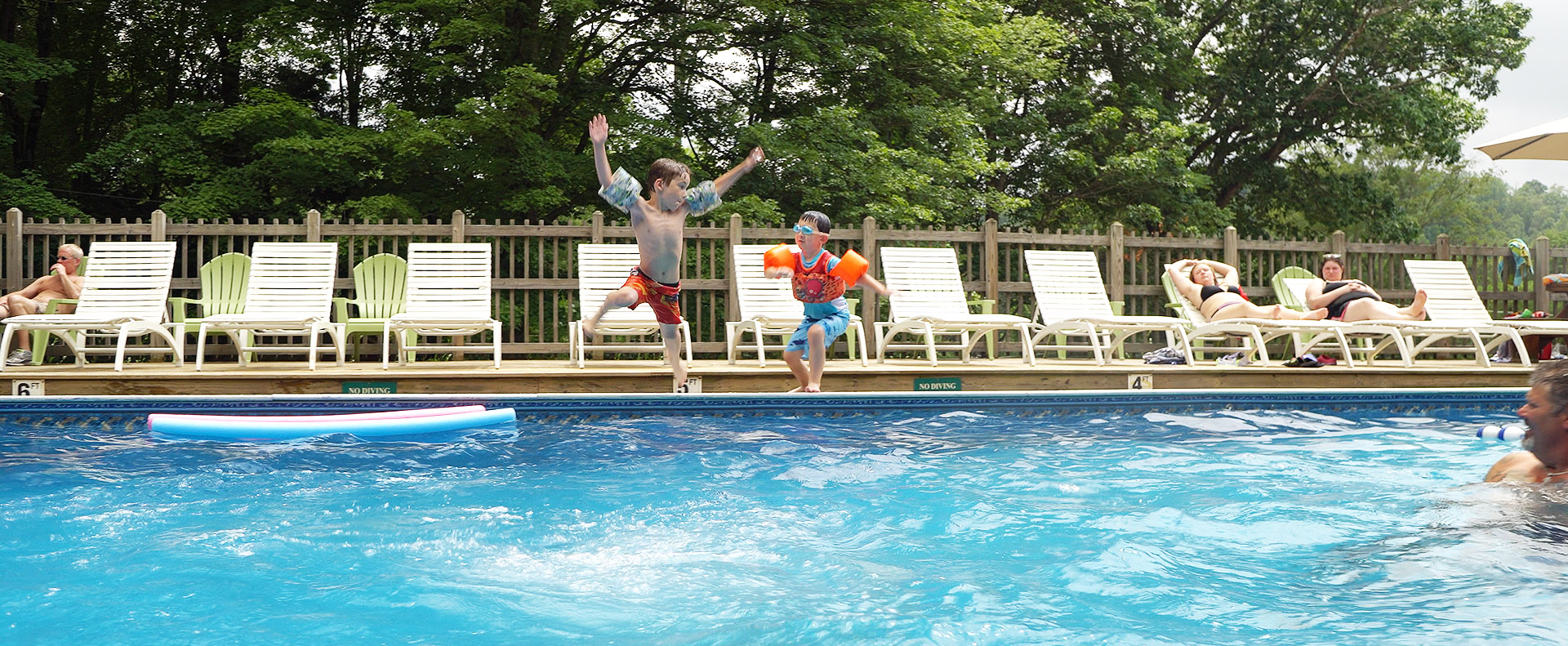 Shore forest campground family camping in pa 39 s endless - Camping with swimming pool near me ...